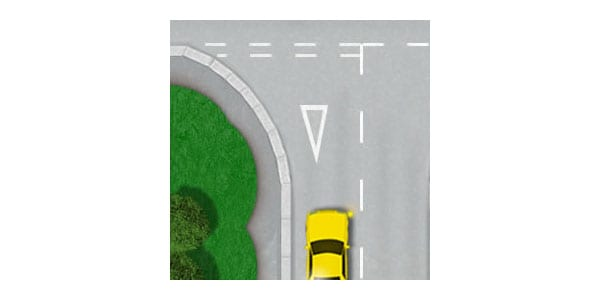 Give way road markings