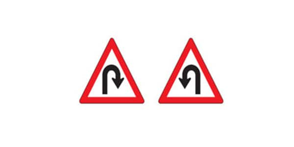 Hairpin Curve Signs