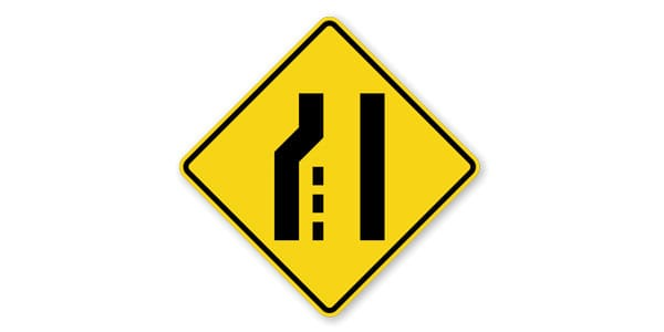 Left Lane Ends Symbol