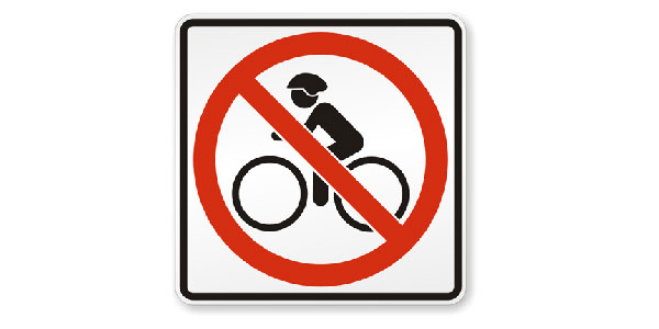 No Bicycle Allowed sign