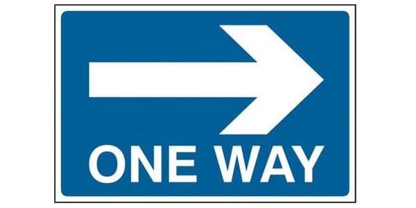 One-way Road-way Sign