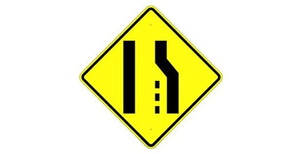 Right Lane Ends Symbol