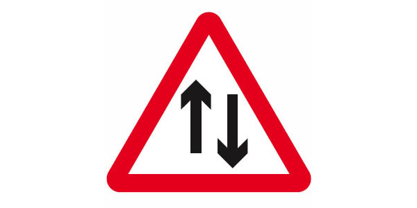 Two Way Traffic Symbol