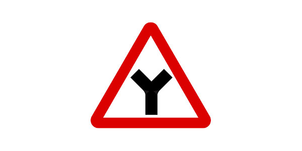 Y-Junction sign