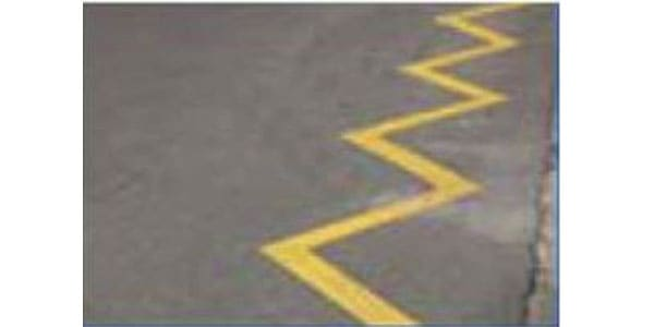 Yellow Zigzag lines