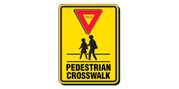 Yield to Pedestrian Sign