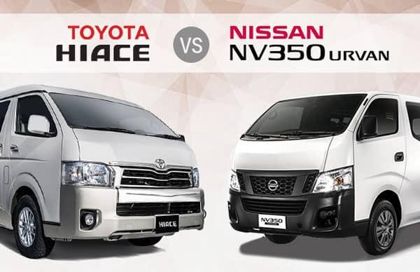 TOYOTA HIACE vs NISSAN NV350 URVAN