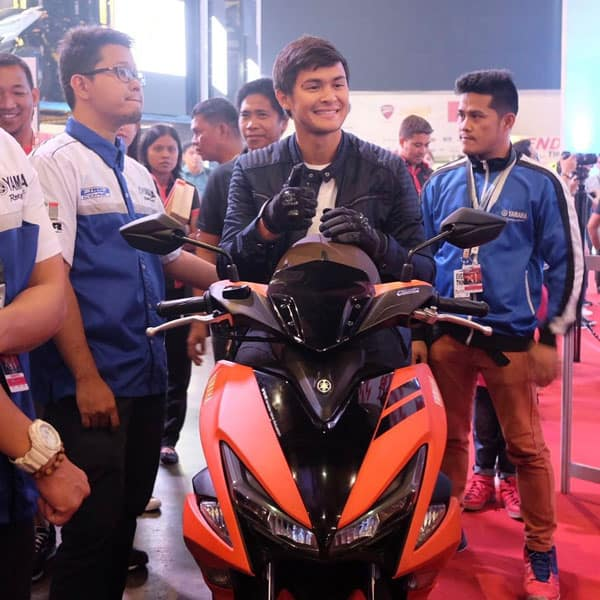 Yamaha Philippines ambassador, Matteo Guidicelli