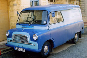 A Bedford CA panel van
