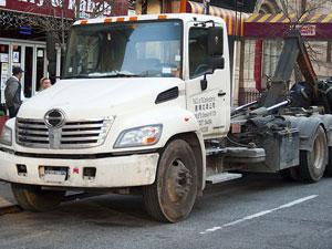 Hino 338 three axle dump