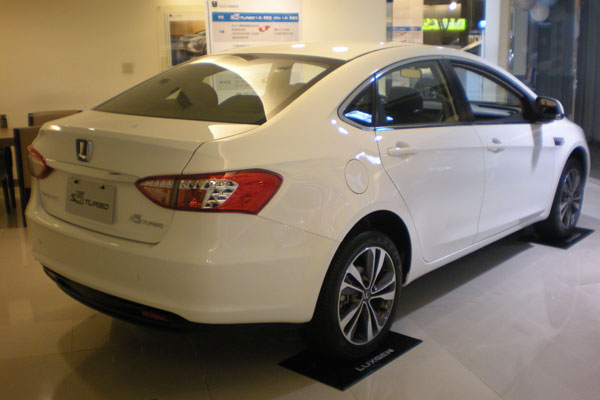 Luxgen S5 Turbo rear view