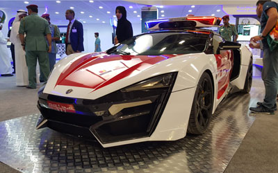 Lykan Hypersport Police Edition right side view