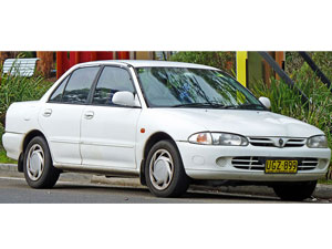 Proton Wira saloon car model