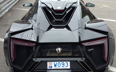 Rear view of the Lykan HyperSport