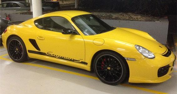 Porsche Cayman S car model