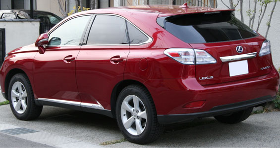 Lexus RX 450h rear view car model