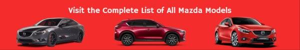 Complete List of All Mazda Car Models