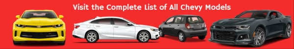 List of All Chevrolet Car Models