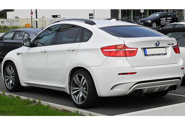 BMW X6 Rear View