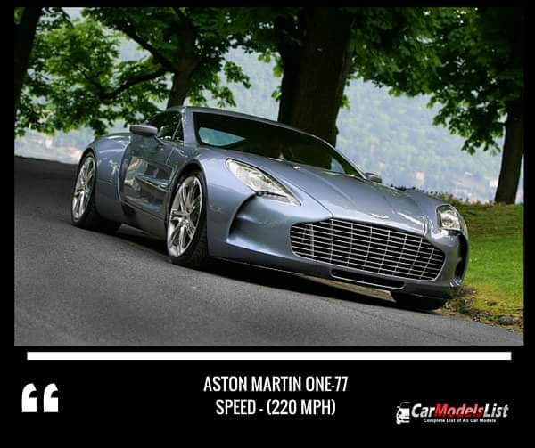 Aston Martin One 77 (220-mph)