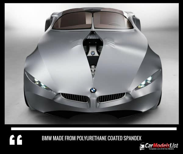 BMW made from polyurethane coated spandex
