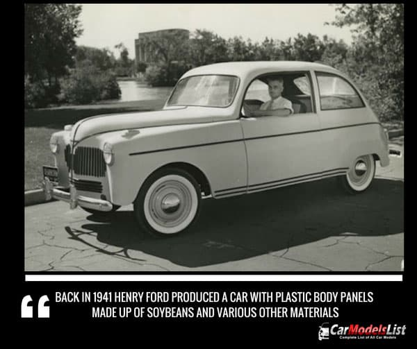 Ford made from soybeans