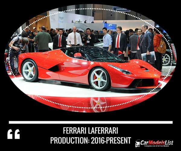 Ferrari LaFerrari 2016 present