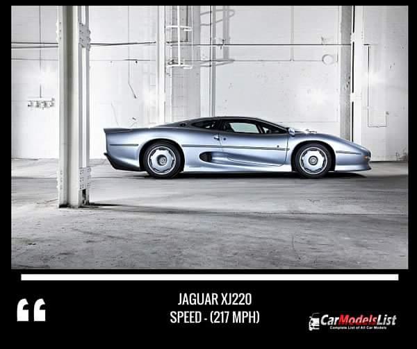 Jaguar XJ220 (217-mph)