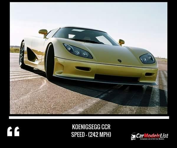 Koenigsegg CCR (242-mph)