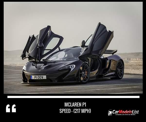 McLaren P1 (217-mph)