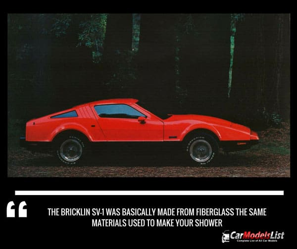Bricklin SV-1 made from materials used for shower
