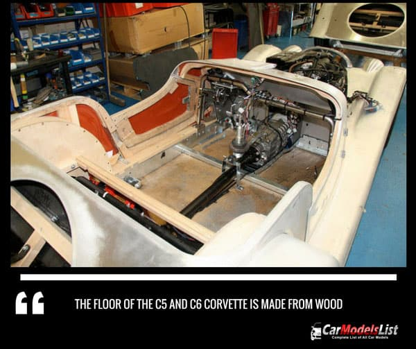 C5 and C6 Corvette floor made from wood
