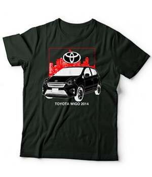 Original Toyota Wigo Car Model Shirt