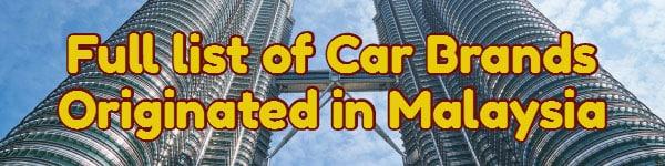 Full list of car brands originated in malaysia