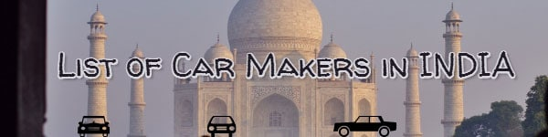 list of car makers in india
