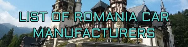 list of romania car manufacturers