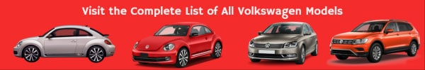 Complete List of Volkswagen Car Models