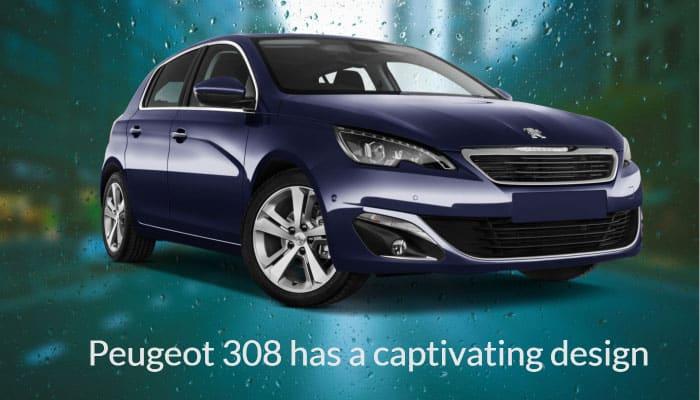 Peugeot 308 has a captivating design