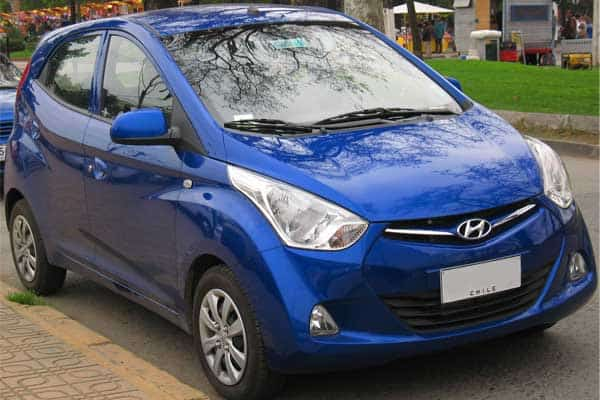 hyundai eon car model review blue color