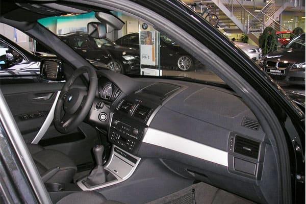 BMW X3 car model interior