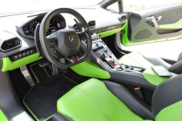 Lamborghini Huracan car model Interior