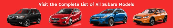 List of All Subaru Car Models
