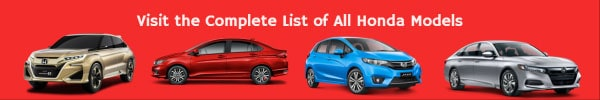 Complete List of All Honda Car Models