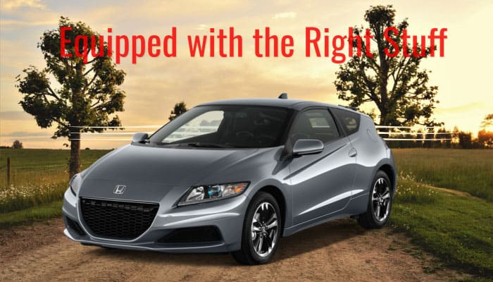 Equipped with the Right Stuff honda cr-z