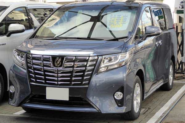 Toyota ALPHARD X front car model