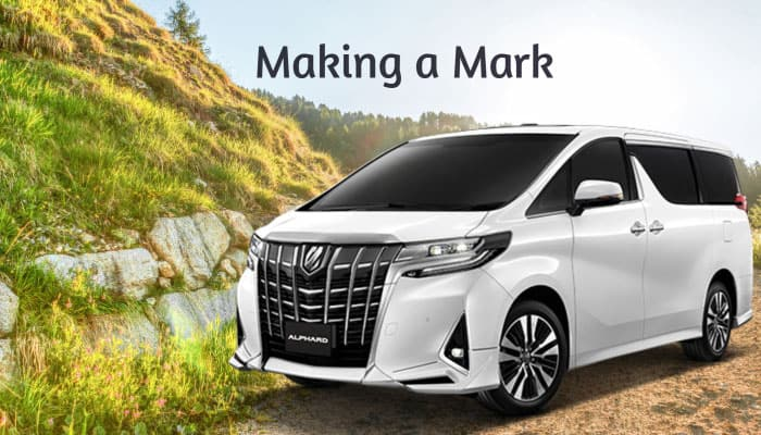 making a mark toyota alphard