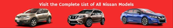 Complete List of All Nissan Car Models
