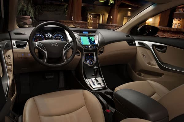 Hyundai Elantra Car Model Interior