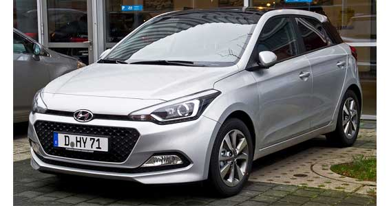 Hyundai i20 car model