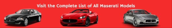 Complete List of All Maserati Car Models